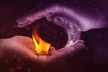 soñar con fuego y agua